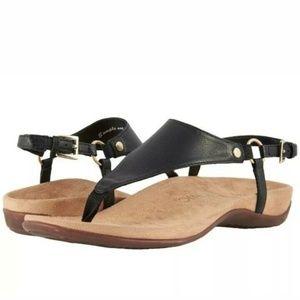 Vionic Kirra Black Thong Sandals Womens Shoes NEW